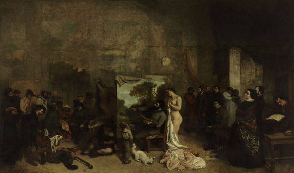Wall Art - Painting - The Artist's Studio, A Real Allegory Summing Up Seven Years Of My Artistic And Moral Life by Gustave Courbet