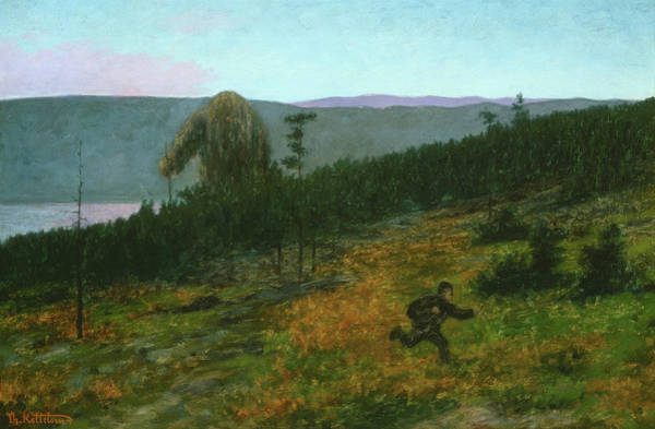 Wall Art - Painting - The Ash Lad And The Troll, 1900 by Theodor Kittelsen