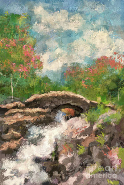 Digital Art - The Ashness Bridge In Spring by Lois Bryan