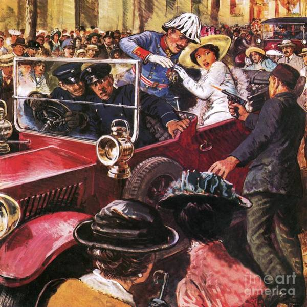 Wall Art - Painting - The Assassination Of Archduke Franz Ferdinand by Clive Uptton
