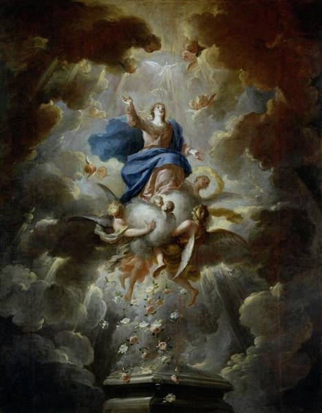 Wall Art - Painting - 'the Assumption Of The Virgin Mary', Ca. 1700, Spanish Sc... by Francisco Ignacio Ruiz de la Iglesia -1649-1704-