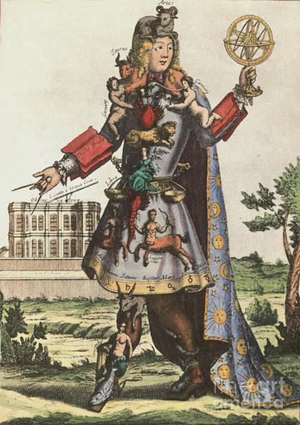 Baroque Mixed Media - The Astrologer by Nicolas de Larmessin