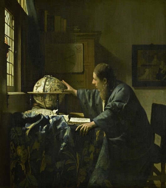 The Astronomer, 1668 Art Print