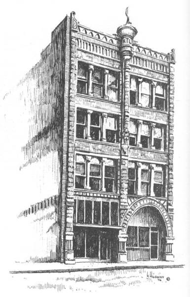 Drawing - The Atlas Block, Helena, Montana by Kevin Heaney