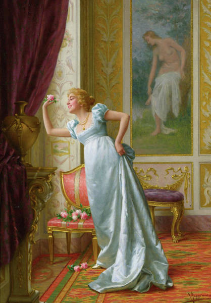 Wall Art - Painting - The Attraction, 19th Century by Vittorio Reggianini