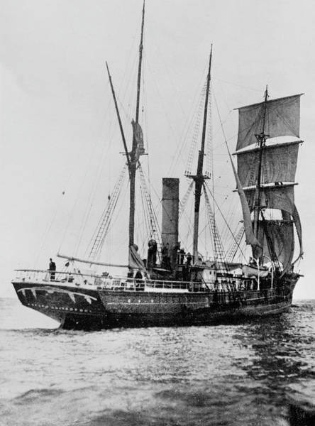 Wall Art - Photograph - The Aurora Crossing The Equator, August 1911 by English School