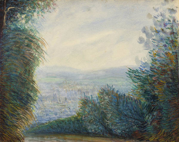 Painting - The Auvers Valley On The Oise River by Auguste Renoir