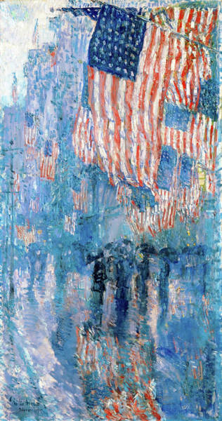 Wall Art - Painting - The Avenue In The Rain Frederick Childe Hassam - Digital Remastered Edition by Frederick Childe Hassam