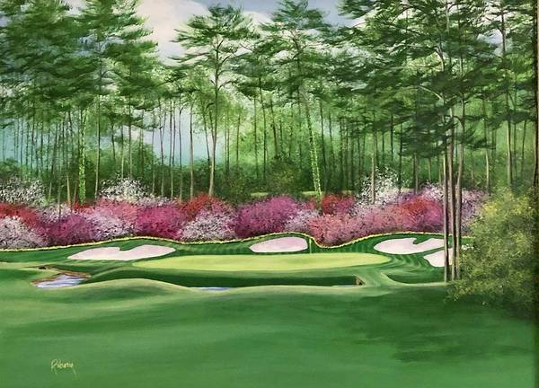 Augusta Masters Painting - The Azalea Hole by Nancy Raborn