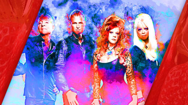 Mixed Media - The B52's by Marvin Blaine