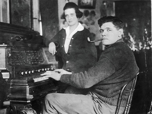 Player Piano Photograph - The Babe Plays Piano by Fpg