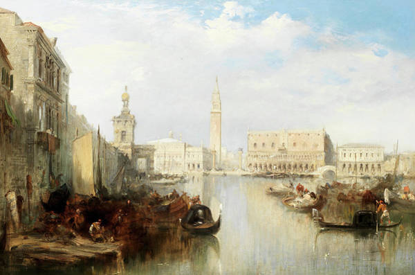 Wall Art - Painting - The Bacino, Venice by Edward Pritchett