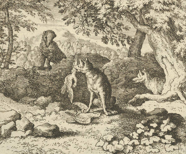 Wall Art - Relief - The Badger Hurries To Warn Renard Of The Lion's Intention by Allaert van Everdingen