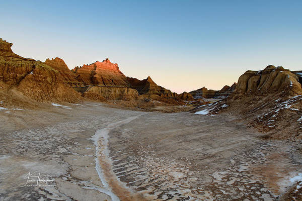 Photograph - The Badlands And A Sunrise by Jim Thompson