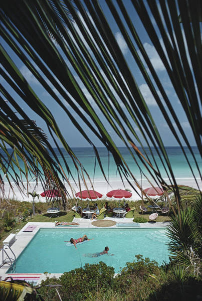 Swimming Pool Photograph - The Bahamas by Slim Aarons