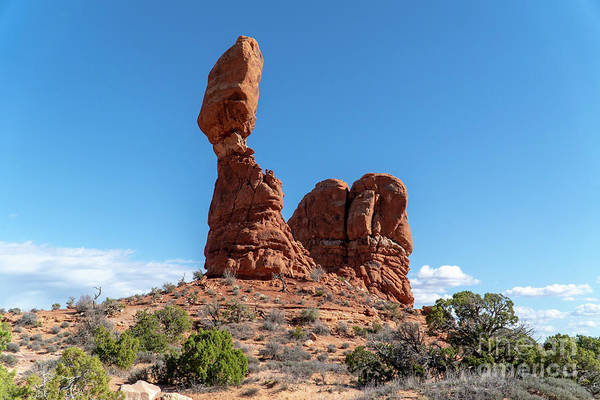 Photograph - The Balanced Rock At Arches National Park, Moab, Utah Usa by William Kuta
