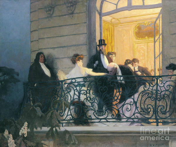 Wall Art - Painting - The Balcony  by Rene Francois Xavier Prinet