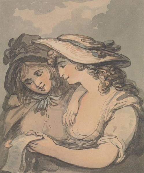 Drawing - The Ballad Singers by Thomas Rowlandson