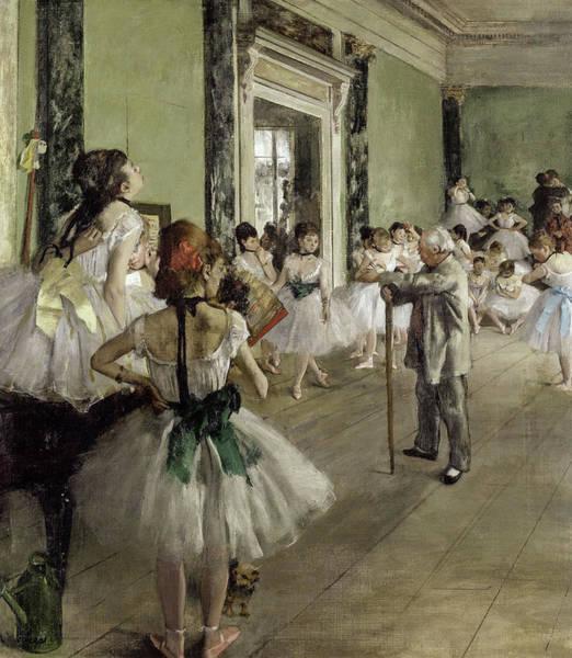 Wall Art - Painting - The Ballet Class, 1874 by Edgar Degas