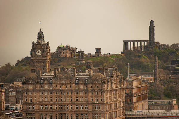 Wall Art - Photograph - The Balmoral And Calton Hill - Edinburgh Scotland by Bill Cannon
