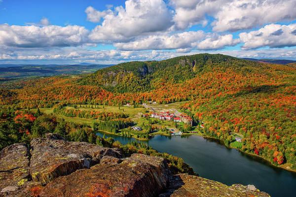 Photograph - The Balsams Resort Autumn. by Jeff Sinon