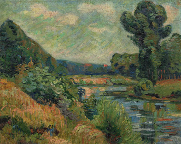 Wall Art - Painting - The Banks Of The Marne At Charenton, 1895 by Armand Guillaumin