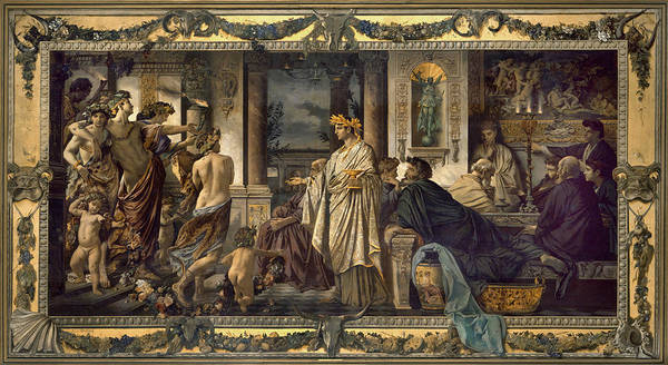 Greek House Painting - Symposium by Anselm Feuerbach