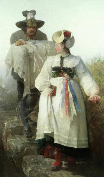 Wall Art - Painting - The Baptism by Gustave Adolf Jundt