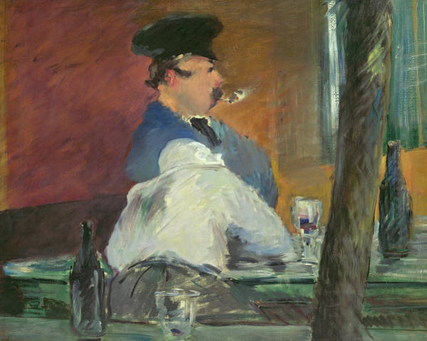 Parisian Cafe Painting - The Bar, 1879 by Edouard Manet