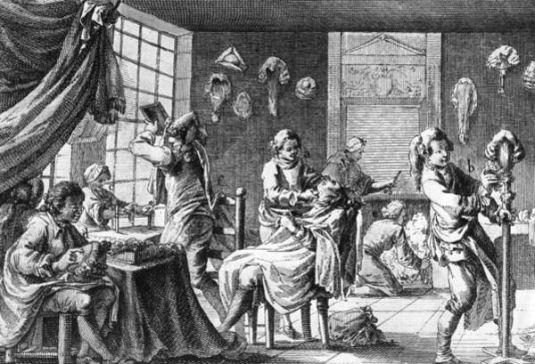 18th Century Digital Art - The Barber by Hulton Archive