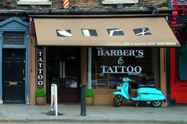 Photograph - The Barbers Room And Tattoo Studio - Dublin Ireland by Bill Cannon