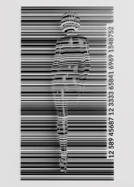 Barcode Digital Art - The Barcode by Aivaras Grauzinis