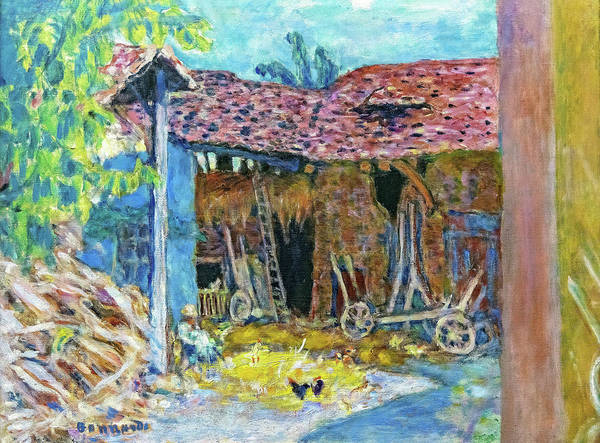 Wall Art - Painting - The Barn - Digital Remastered Edition by Pierre Bonnard
