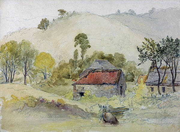 Wall Art - Painting - The Barns - Digital Remastered Edition by Samuel Palmer