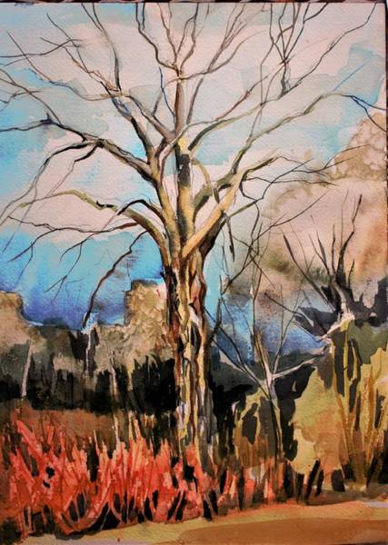 Wall Art - Painting - The Barren Tree by Mindy Newman