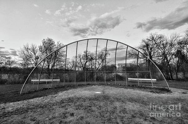 Wall Art - Photograph - The Baseball Field Black And White by Paul Ward