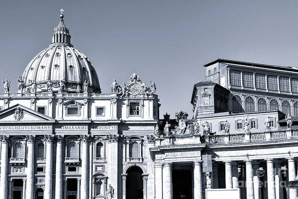 Photograph - The Basilica In Vatican City by John Rizzuto