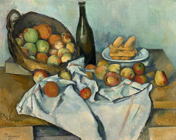 Wall Art - Painting - The Basket Of Apples, 1887-1900 by Paul Cezanne