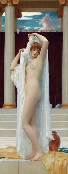 Wall Art - Painting - The Bath Of Psyche by Lord Frederic Leighton