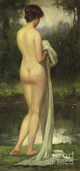 Wall Art - Painting - The Bather By Allan Douglas Davidson by Allan Douglas Davidson