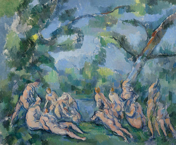 Painting - The Bathers, 1898 by Paul Cezanne