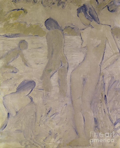 Wall Art - Painting - The Bathers, 20th Century By Muller Or Mueller by Otto Muller