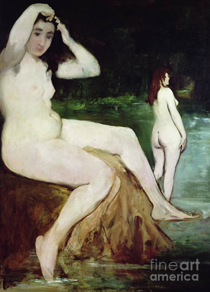 Wall Art - Painting - The Bathers By Manet by Edouard Manet