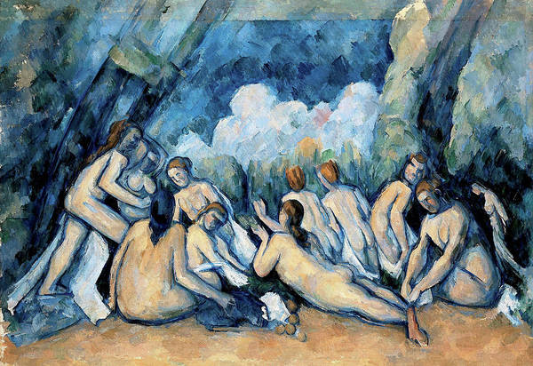 Wall Art - Painting - The Bathers - Digital Remastered Edition by Paul Cezanne
