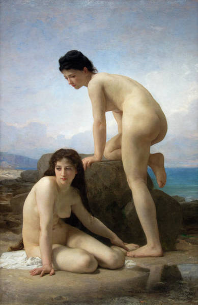 Wall Art - Photograph - The Bathers - William Adolphe Bouguereau - France 1884  by Daniel Hagerman