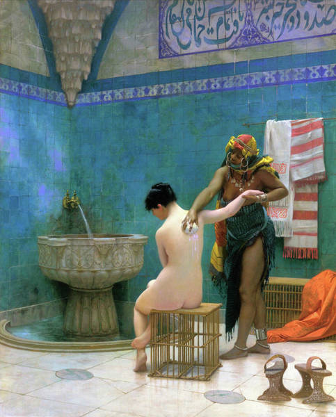 Wall Art - Painting - The Bathing - Digital Remastered Edition by Jean-Leon Gerome