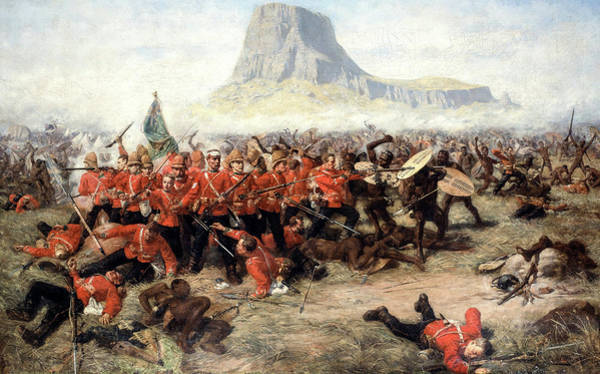 Aborigine Painting - The Battle Of Isandlwana, 1885 by Charles Edwin Fripp
