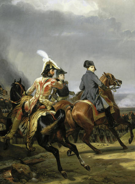 Wall Art - Painting - The Battle Of Jena, Napoleon Reviewing The Imperial Guard,14th October 1806 by Horace Vernet