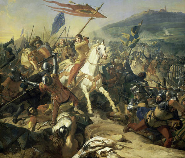 Wall Art - Painting - The Battle Of Mons-en-pevele, 1304 by Charles-Philippe Lariviere