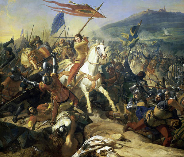 Wall Art - Painting - The Battle Of Mons En Puelle by Charles-Philippe Lariviere